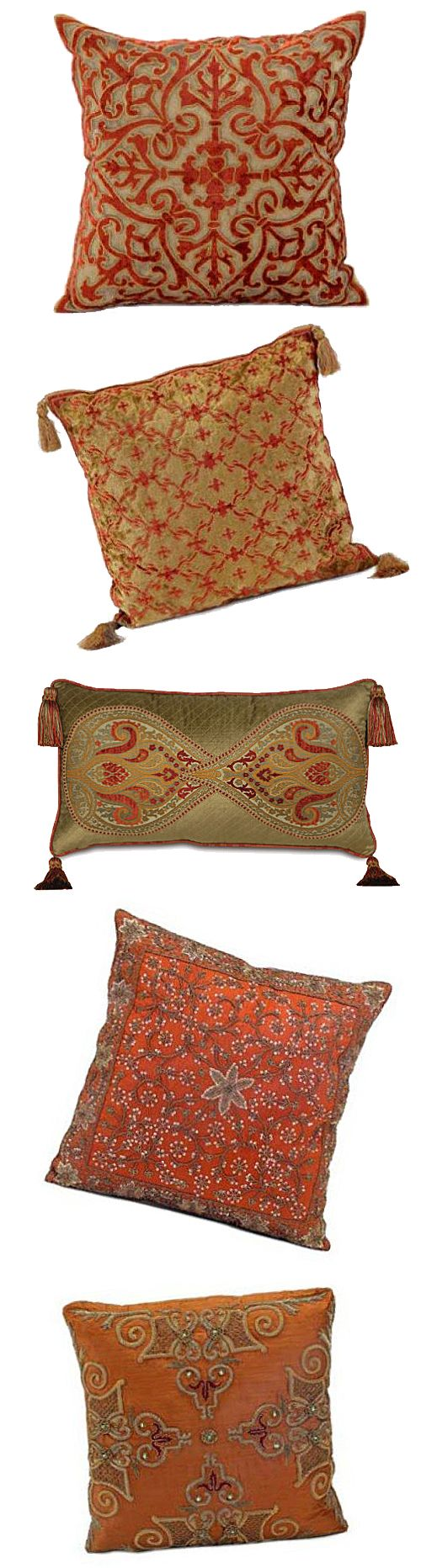 India pied-à-terre   Spice Patterned Pillows