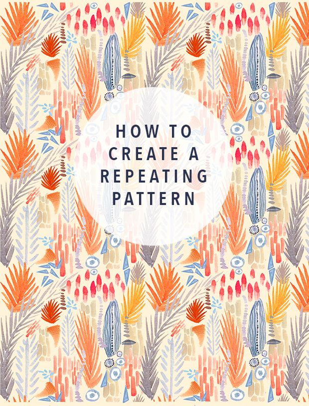 Great how to from justina blakely on creating repeat patterns