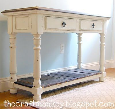 sofa table - love this!