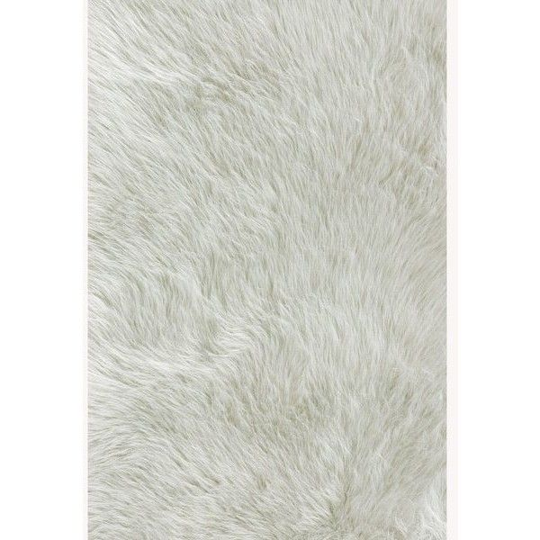 alexander home jungle sheep skin white rug 141 liked on polyvore featuring home