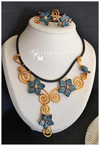 pretty flowers by Fimo Feerie...