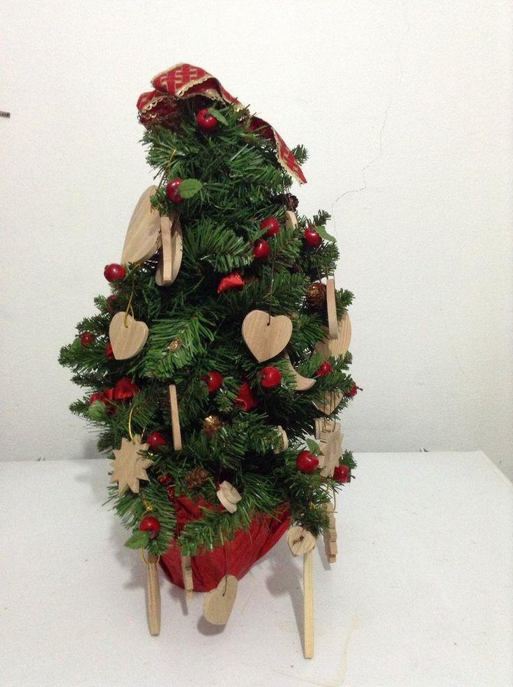 Decorazioni in legno albero di natale,pacchetti, by Fantasie in legno di Geppetto B, 1,50 € su misshobby.com