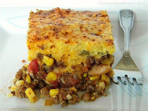 Chili Pie w/ Green Chile & Cheddar Cornbread Crust by ~CinnamonGirl, via Flickr