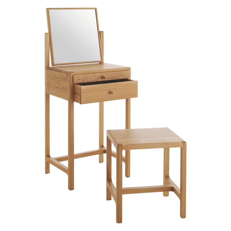 LIMBO Oak dressing table and stool - Habitat - narrow like I'm planning, but still seated & low