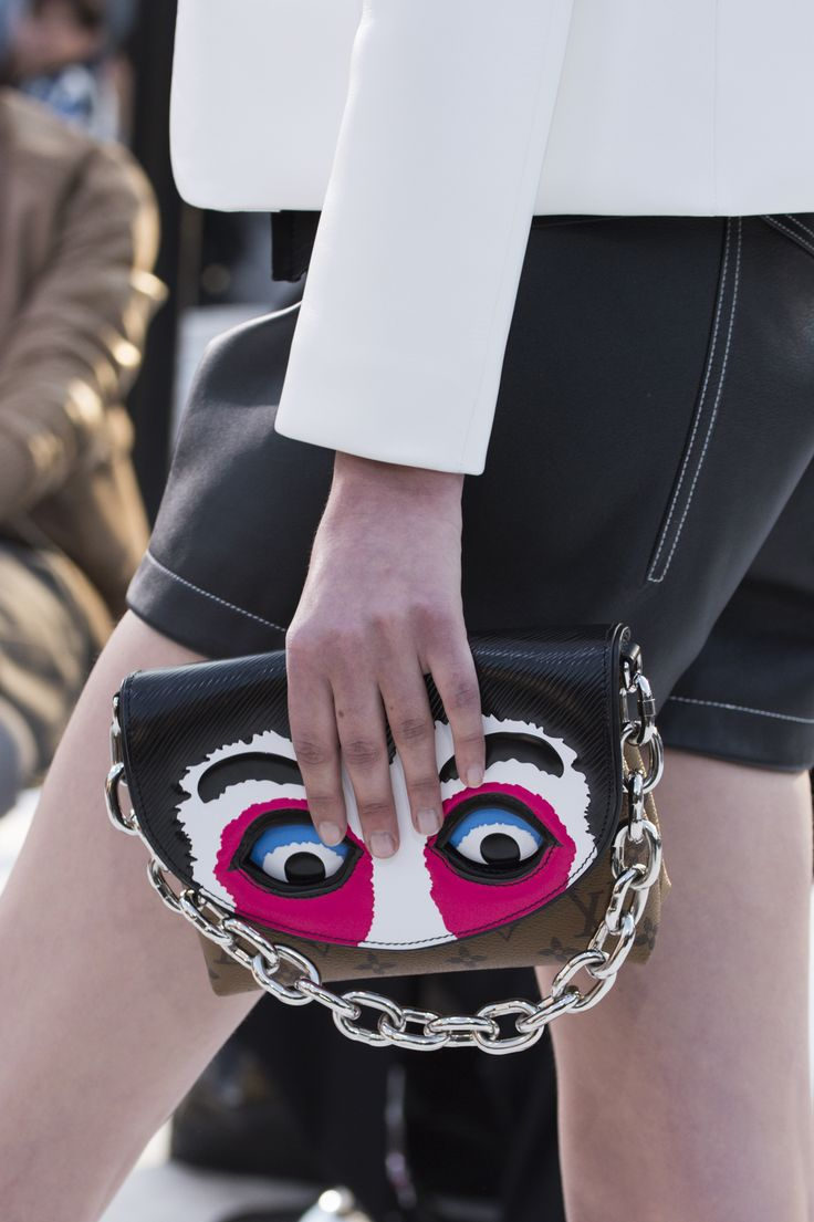 A bag from the Louis Vuitton Cruise 2018 Fashion Show by Nicolas Ghesquière, presented at the Miho Museum near Kyoto, Japan