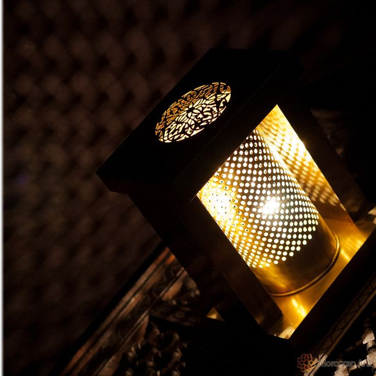 Moroccan Table Lamp finely chiseled and engraved