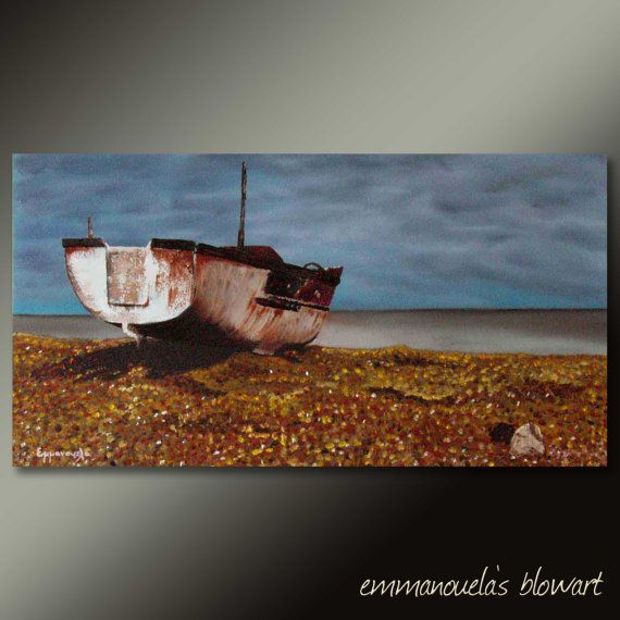 Original seascape painting Before the storm 80x40cm by Blowart, €280.00