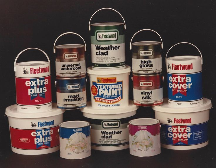 Today we have a flashback to Fleetwood's range of paint from the 1980's. We think some of the packaging designs have aged very well. Others......maybe not so much!
