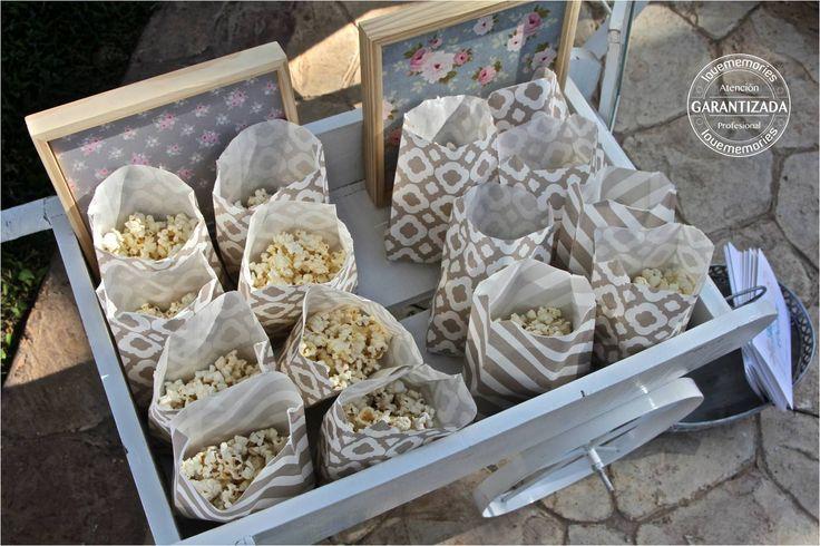 Rosetas de maiz ideal para mostrar tu pasion por el cine #LMcandyBuffet #Cancun