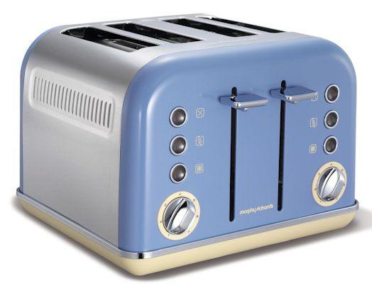 Accents Cornflower 4 Slice Toaster