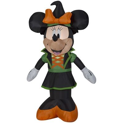 Disney Mickey & Friends 3.5-ft x 2.39-ft Internal Light Minnie Mouse Halloween Inflatable