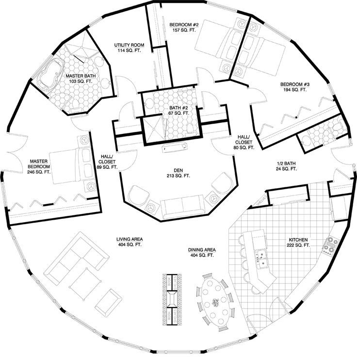 Circular house floor plans house design plans for Circular house plans