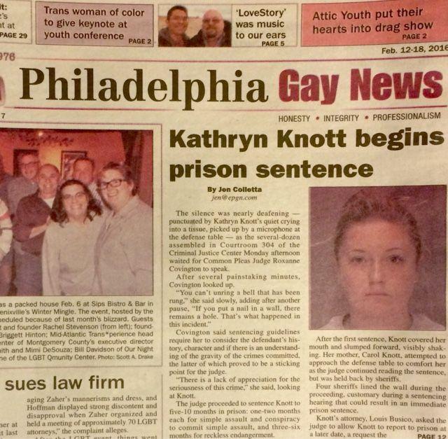 Piece of Shit Kathryn Knott Is Where She Belongs
