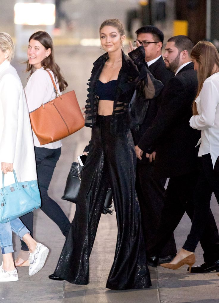 7 Ways to Take Your Lingerie to the Street - The Strapless Bustier on Gigi Hadid from InStyle.com