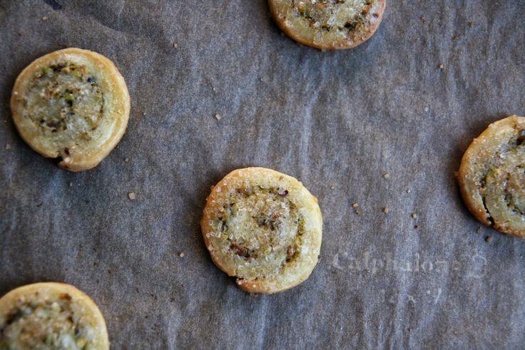 Pistachio Piecrust Pinwheels Recipe   mostly foodstuffs