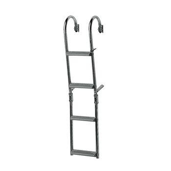 Foldable Ladder for narrow transom, 180⁰, Inox 316