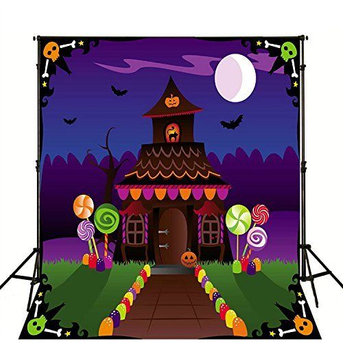 Cartoon Candy Land Halloween Photography Backdrop 5x7ft Bright Moon with Black Bat Background Photo Booth Props, http://www.amazon.com/dp/B01KUZ4OF6/ref=cm_sw_r_pi_awdm_x_v4HWxbNGAR46X