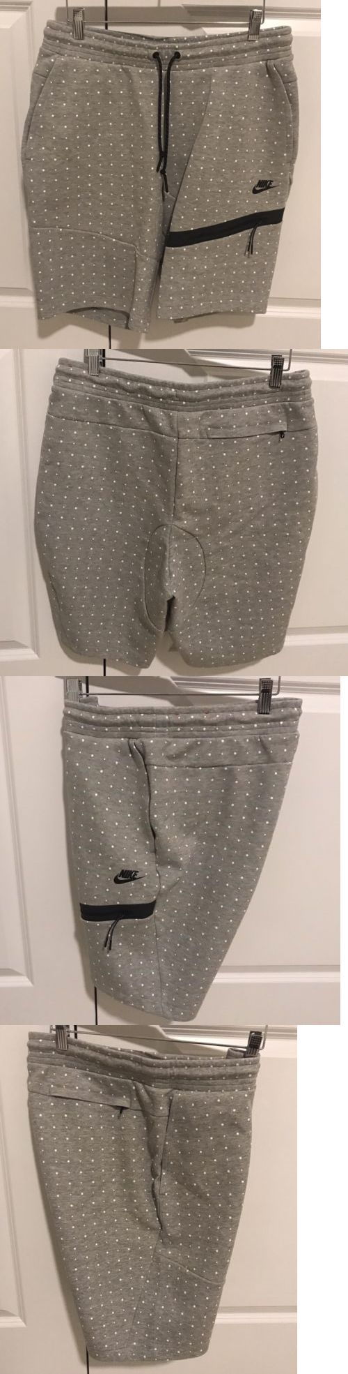 Athletic Apparel 137084: Nike Tech Fleece Polka Dot Shorts Black White Men S Size Large -> BUY IT NOW ONLY: $59 on eBay!