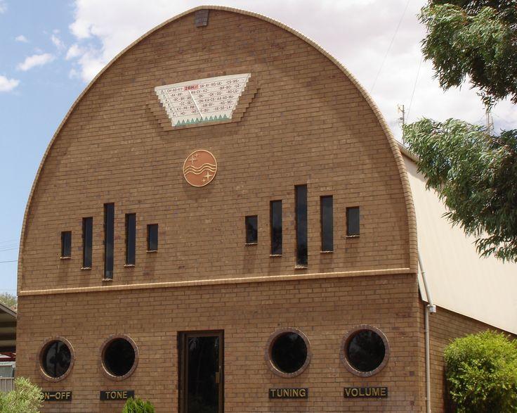 Radio Station 2BH Broken Hill, quirky radio shaped building. #BrokenHill