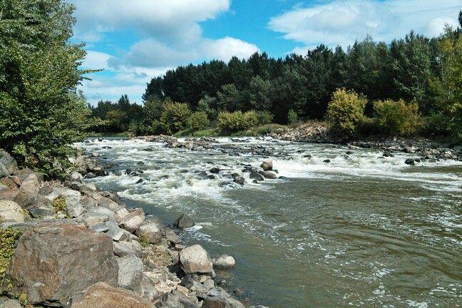 River Garam (Hron) in South Slovakia