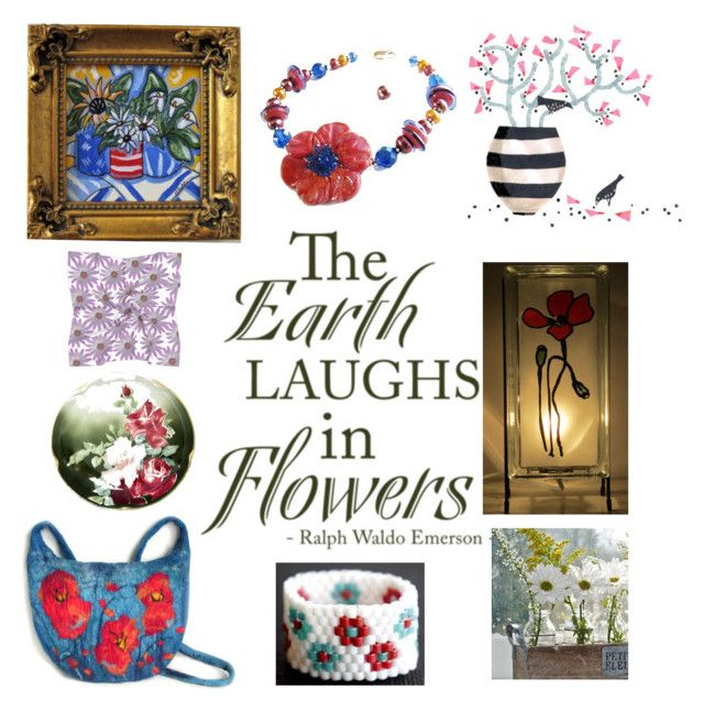 Unique Flowers by glowblocks on Polyvore featuring art