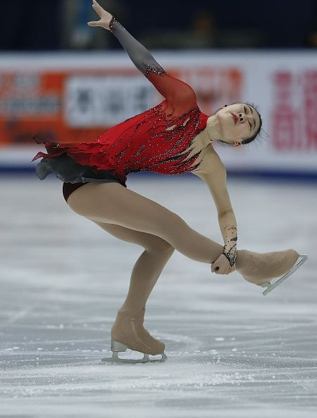 So Youn Park of Korea competes in the Ladies Short Program on day two of Audi Cup of China ISU Grand Prix of Figure Skating 2015 at Beijing Capital...