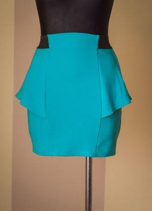Kup mój przedmiot na #Vinted http://www.vinted.pl/kobiety/spodnice/9846125-atmosphere-niebieska-spodnica-baskinka-38-m