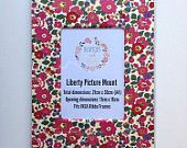 Liberty Art Fabric Picture Mount ~ Fits A4 Frame ~ Home Desk Decor Gift Wall Art ~ Classic Pink Betsy Print.  Shop Rhapsody and Thread via Etsy.