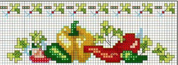 Schema punto croce Peperoni