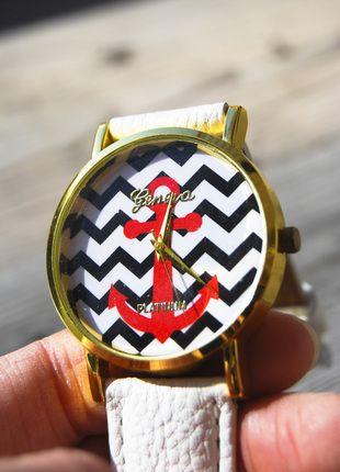 Kupuj mé předměty na #vinted http://www.vinted.cz/doplnky/hodinky/11147046-zlate-sailor-namornicke-hodinky-geneva-s-kotvou