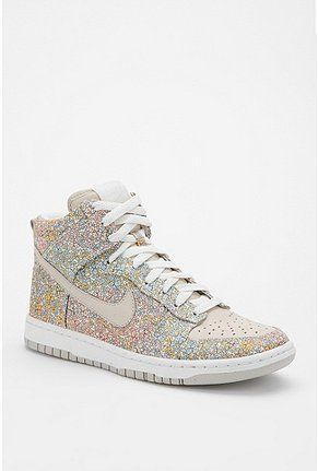 $69.99 Nike Floral Skinny Dunk Sneaker!! Hate sparkles but theese are pretty sweet