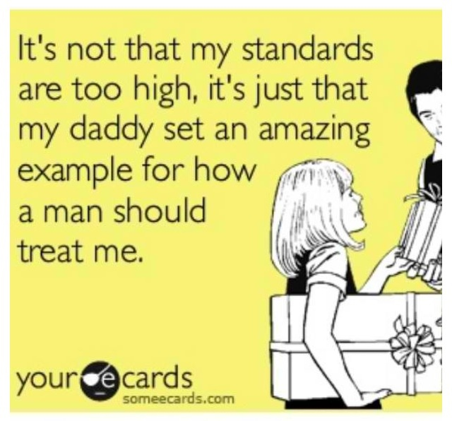 That's for damn sure and so true for all the men in my family!!! <3