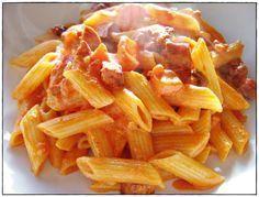 Cómo hacer macarrones con chorizo fácil y rápido - Recetas para niños - Macarrones con chorizo y tomate paso a paso - Recetas de la abuela - Salsa casera
