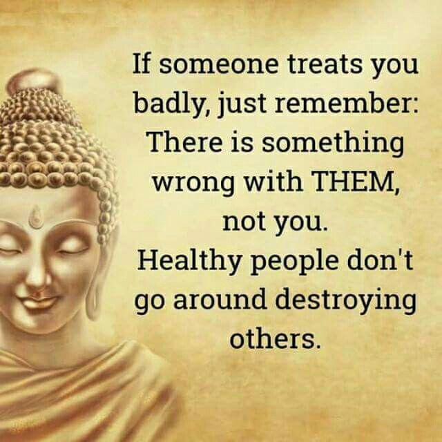 Healthy people are healthy in every way. They aren't damaged and want to cause others damage too.