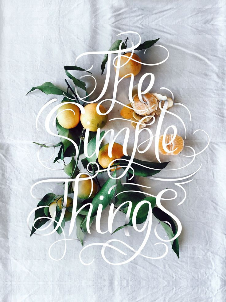 THE SIMPLE THINGS | Cocorrina