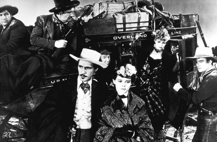 """""""La chevauchée fantastique""""(The stagecoach 1939), première rencontre entre John Ford et John Wayne (+ Claire Trevor, Andy Devine, John Carradine, George Baancroft et Tim Holt)"""