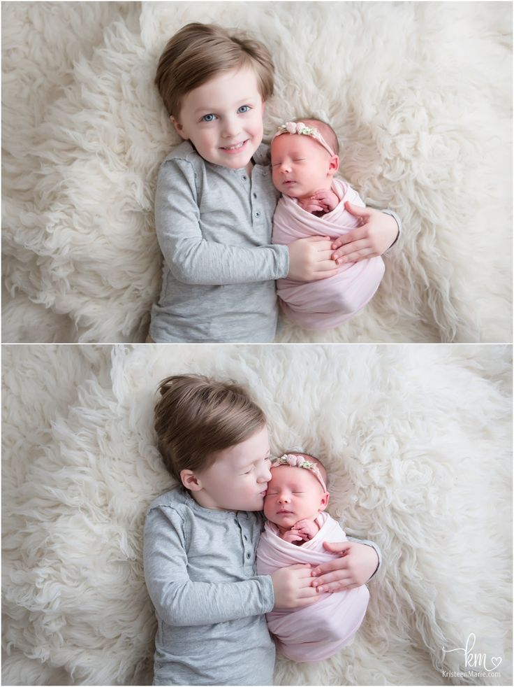 Big Brother And Newborn Baby Sister Sibling Poses With Images
