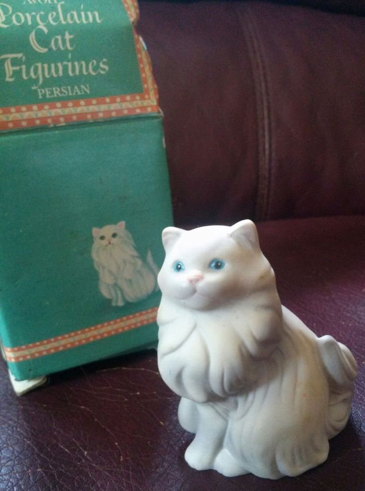 Persian Cat Avon Collectible Porcelain Figure