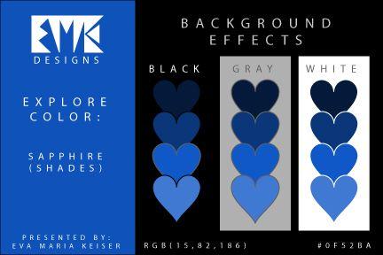 Eva Maria Keiser Designs: Explore Color Background Effects: Sapphire (Shades...