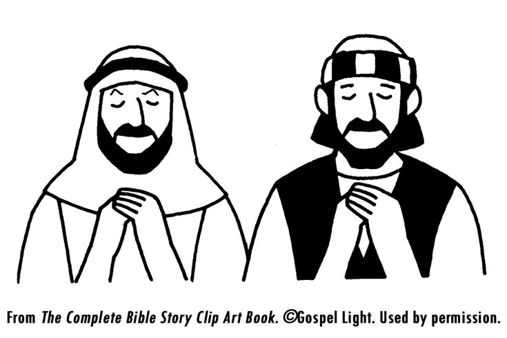 Parable of pharisee and tax collector teaching resources for The pharisee and the tax collector coloring page
