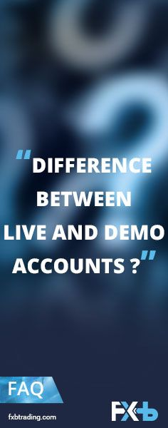 Demo account  Improve your trading skills and test your trading strategies with $50 000 of virtual funds.  Experience the market risk free before you start trading in a live trading environment. Live account  Trade the markets for real by investing your own money.#trading #tradeonline #FXB #FXBTrading #forex #mt4 #mt5 #reputation #cfd