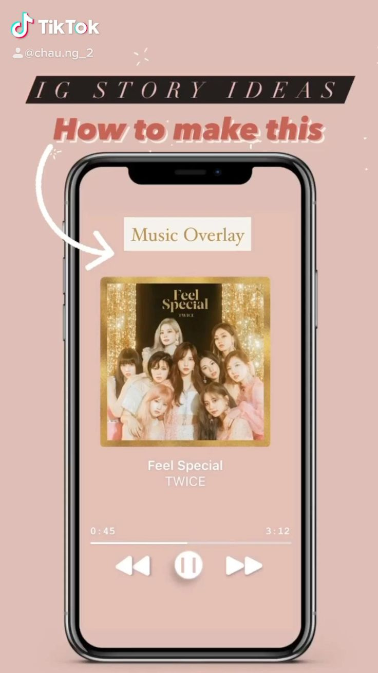 Instagram story ideas music player overlay video in