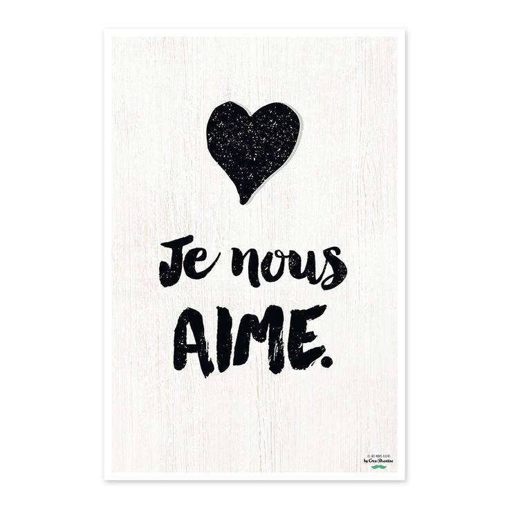 """Affiche Créabisontine """"Je nous AIME"""" pour Label'tour"""