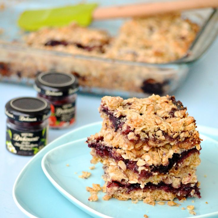 Obsessive Cooking Disorder: Raspberry Oatmeal Bars. I bet blackberry would do well in this, too.