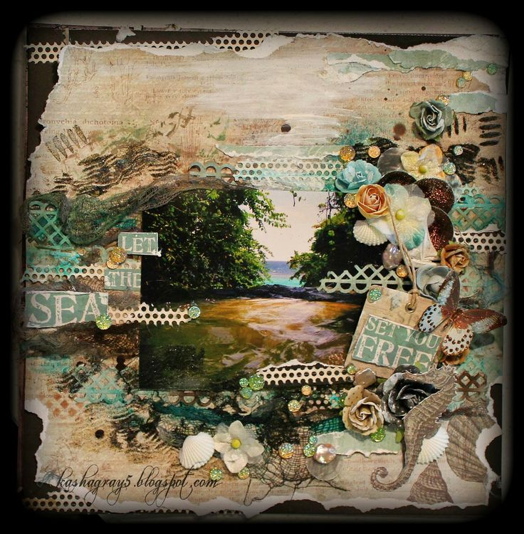 Scraps of Darkness and Scraps of Elegance: Cape May Holiday Kit - layout by Mandy Zimmerman.  www.store.scrapsofdarkness.com