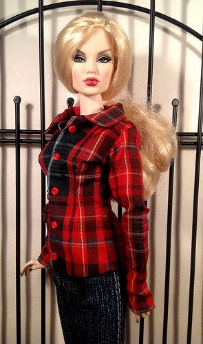 New Brunswick tartan shirt jacket and jeans by RFBdesigns. Korrine loves this laid back comfort look