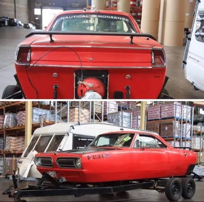 When you want a boat and a muscle car