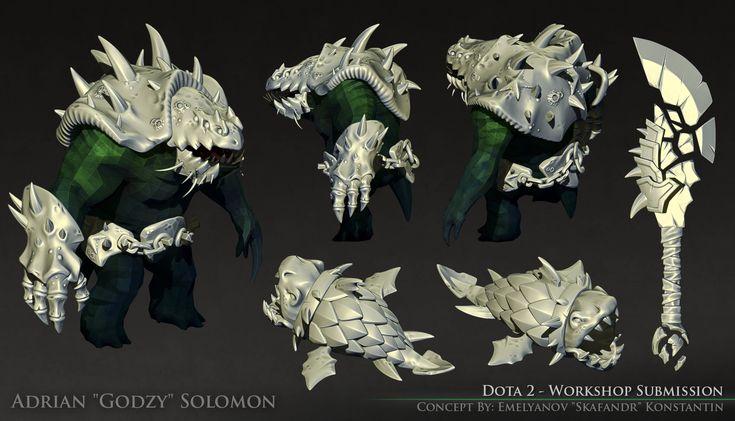 ArtStation - Dota 2 - Relics of the Drowning Trench [Tidehunter Set], Adrian Solomon