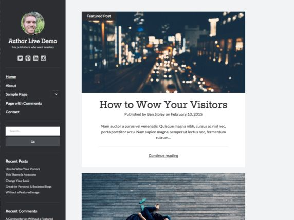 16 best Free WordPress Themes - 8Degree Themes images on Pinterest ...