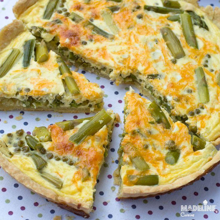 Tarta cu sparanghel si mazare / Pea asparagus quiche